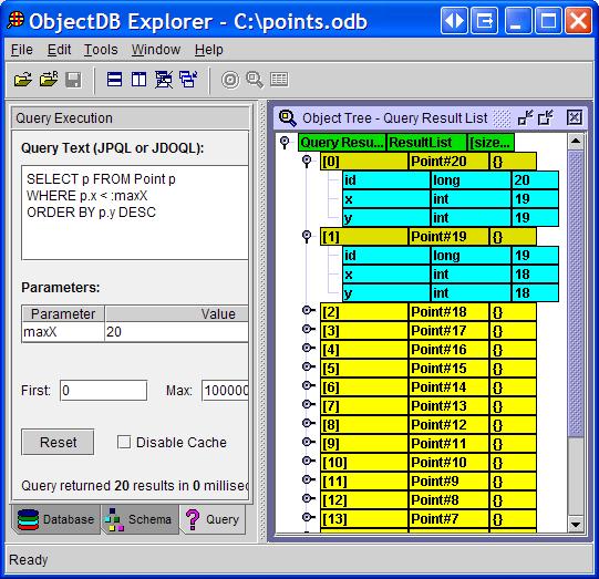 Java/JPA/JDO Object Database Explorer | ObjectDB