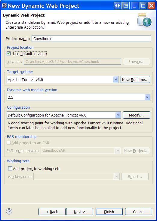 Eclipse/JPA Tutorial - Create a Dynamic Web Project