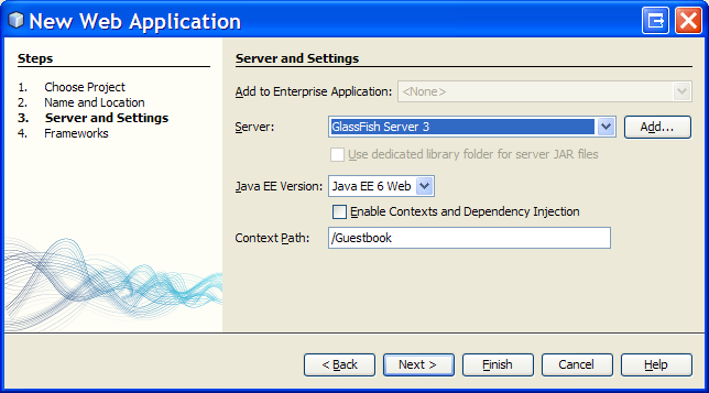 NetBeans JPA Tutorial - Create a Java EE 6 (J2EE) Web Project