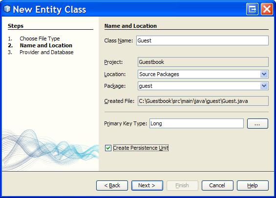 NetBeans Spring MVC JPA Tutorial - JPA Entity Class and