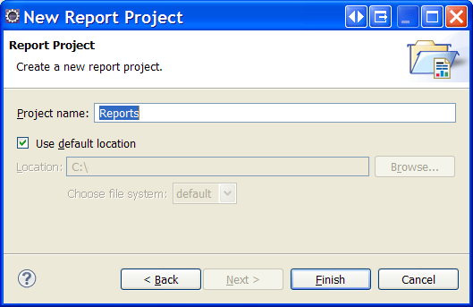 Create An Eclipse Birt Project For Objectdb Jpa Reports